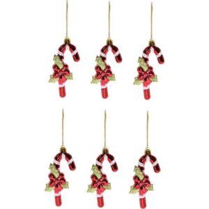 Karácsonyi dísz Nyalóka műanyag 11,5x4,5cm piros S/6 Dekor trend 2019/20