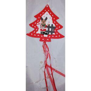 Karácsonyi fa ajtó dekoráció f rénszarvas dekoros fenyőfa Karácsonyi ajtó-ablak dekor dísz
