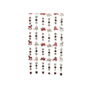 Karácsonyi fa girland 20' 150cm angyalka, fenyőfa, toboz, hintaló exkluzív termék