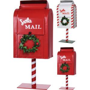 Karácsonyi postaláda 37cm piros és fehér színben