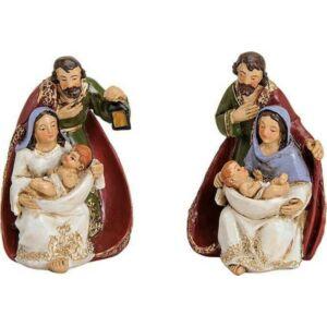 Karácsonyi szent család 20' 7x6x10cm kézze festett 2féle mintával exkluzív különleges termék
