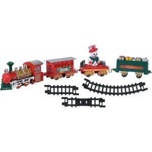 Karácsonyi vonat fa alá szerelhető kisvasút szerelvénnyel