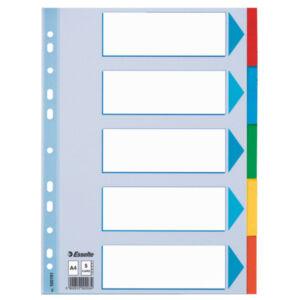 Karton elválasztó 1-5 STANDARD karton 5 részes A4 Esselte 20db rendelési egység ár 1db-r