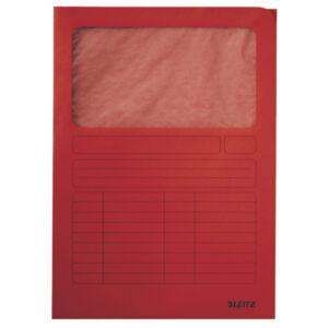Karton mappa Leitz Ablakos karton piros Leitz 10 db rendelési egység ár 1db-ra