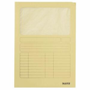 Karton mappa Leitz Ablakos karton sárga Leitz 10 db rendelési egység ár 1db-ra