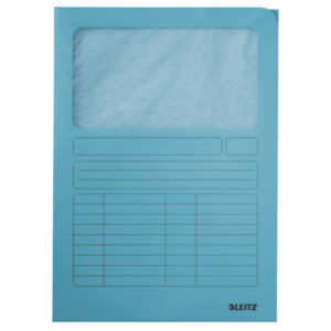 Karton mappa Leitz Ablakos karton v.kék Leitz 10 db rendelési egység ár 1db-ra