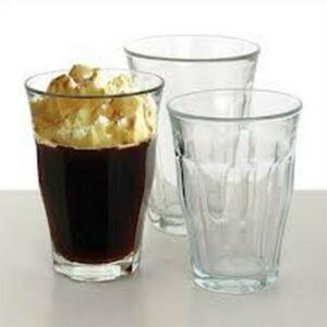 Kávéspohár 24cl üveg Retro 6DB
