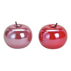Kerámia alma metál 20 pink rózsaszín 9x9x9cm