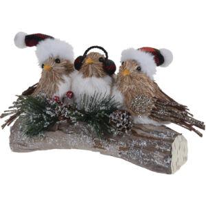 Kerámia dekor madarak ágon 27cm