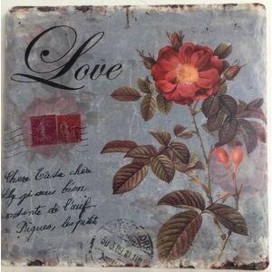 Kerámia edényalátét 16x16cm vadrózsa dekoros