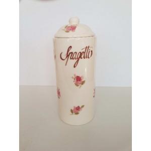 Kerámia Spagettitartó Violin rózsás, kézzel festett