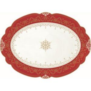 Kínáló tálca ovál porcelán Hermitage 35x25,5cm