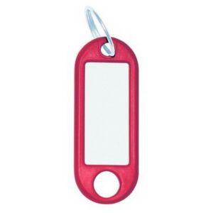 Kulcsbiléta műanyag piros