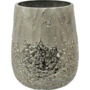 Mécsestartó karácsonyi 20' üveg 9x10cm arany antik