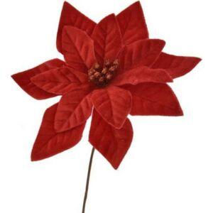 Mikulásvirág betűzős 20' bársony 16cm bordó