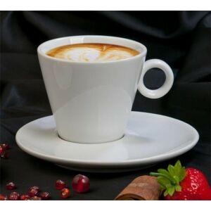 Kávéscsésze+alj fehér, 22cl, 2db-os szett