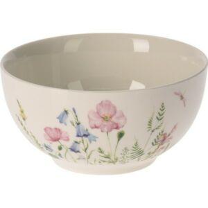 Műzlistál porcelán 14x7cm, virág mintás