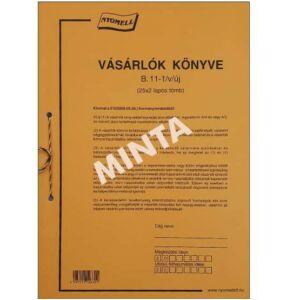 Ny B.11-1/V/ÚJ Vásárlók könyv A4 20X3pl Vásárlók könyve