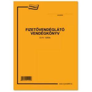Ny D W 1250/B vendégkönyv Fizetővendéglátó vendégkönyv