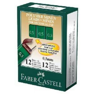 Faber-Castell nyomósironbetét 0,5mm HB 12szál/doboz OF/9125 HB