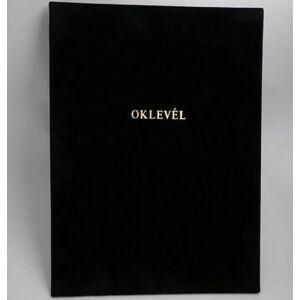 Oklevéltartó A4 exclusive aranyozva fekete