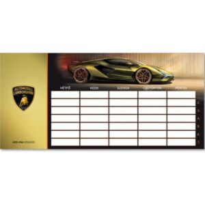 Órarend Ars Una egylapos Lamborghini 21' Prémium minőség