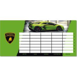 Órarend Ars Una kétoldalas 20 Lamborghini-autós prémium minőség