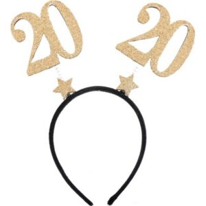 Party fejdísz 20-as arany glitteres