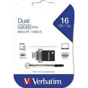 Pendrive 16GB USB 2.0+micro USB adapter táblagéphez DUAL VERBATIM