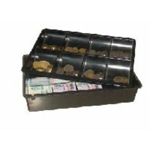 Pénkazetta műanyag bankjegy és érme tartó, fekete színben HM00165, MK8
