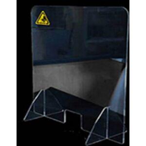 Plexi védőfal 750×800×340mm Átlátszó, 4 mm vastag