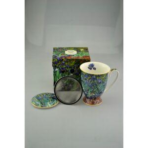 Porcelán bögre 270ml Szűrővel, Iriszek, Van Gogh