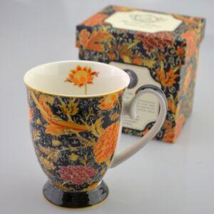 Porcelán bögre 300ml-es William Morris-Virág bögre 8,5x10,5cm-es díszdobozos finom porcelán