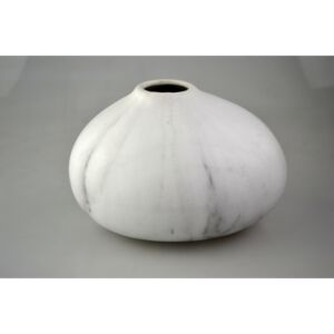 Kerámia váza gömb Márvány, 18,7x16,5x12cm