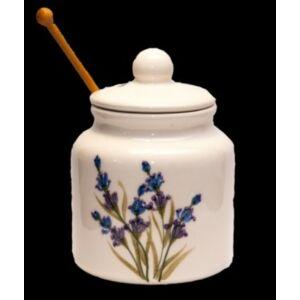 Kerámia mézcsurgató Levendula - kézzel festett - romantikus szögletes