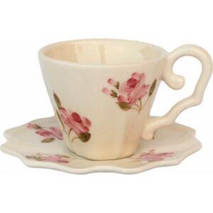 Porcelán csésze rózsás Violin porcelán
