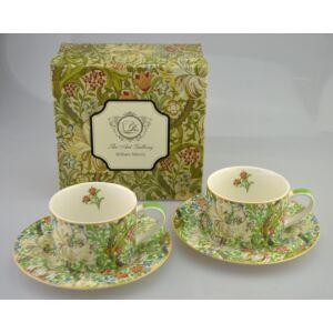 Porcelán csésze szett 250ml-es William Morris Liliom 2-2db csésze+alj 8,8x5,7cm-es díszdobozos finom porcelán