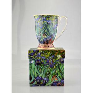 Porcelán bögre 270ml Iriszek, Van Gogh