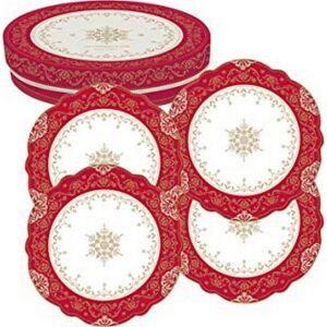 Porcelán desszerttányér szett Hermitage 20cm porcelán készlet 4db-os desszertes készlet