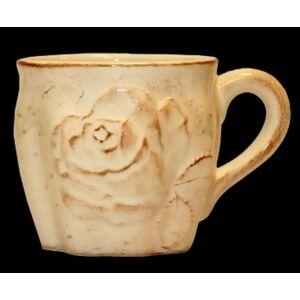 kerámia bögre antik rózsás kézzel festett