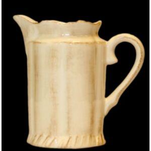 Kerámia tejkiöntő natúr kézzel festett