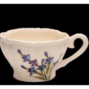 Kerámia Kávés csésze kerámia Levendula kézzel festett - romantikus