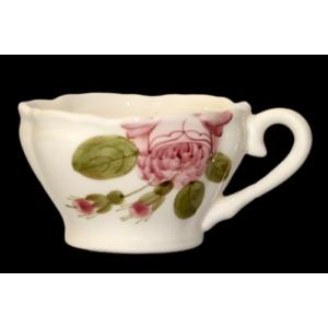 Kávéscsésze kerámia Rózsás - kézzel festett - Romantikus