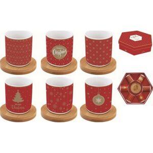 Porcelán kávéspohár 110ml 6 személyes, dobozban, Coffee Mania