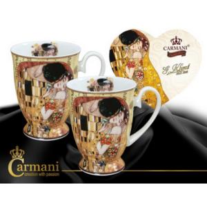 Porcelán lábasbögre szett 2db-os Klimt: Adele Kiss porcelán