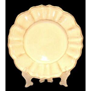 Kerámia sütis tányér natúr kézzel festett - romantikus