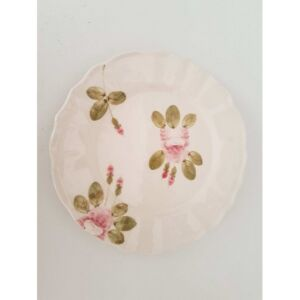 Porcelán lapostányér rózsás Romantik porcelán