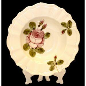 Kerámia romantik rózsás mélytányér Kézzel festett porcelán