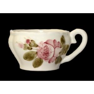 Kerámia romantik rózsás teás csésze Kézzel festett porcelán