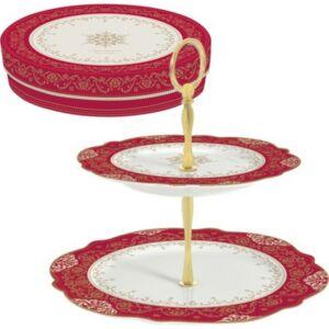 Porcelán süteményes állvány Hermitage, 2emeletes állvány